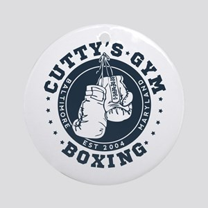 Cutty's Gym The Wire Round Ornament