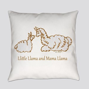 Llittle Llama And Mama Llama Everyday Pillow