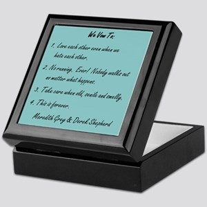 POST-IT NOTE VOWS Keepsake Box