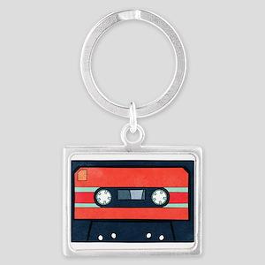Red Cassette Landscape Keychains