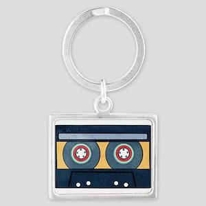 Orange Cassette Landscape Keychains