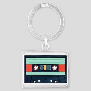 Indigo Cassette Landscape Keychains