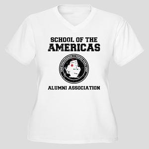 school of the americas Women's Plus Size V-Neck T-