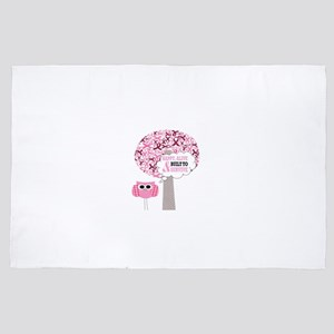 happy & alive breast cancer survivor 4' x 6' Rug