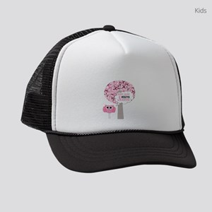 happy & alive breast cancer survi Kids Trucker hat