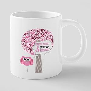 happy & alive breast cancer survivor Mugs