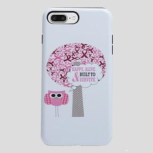 happy & alive breast ca iPhone 8/7 Plus Tough Case