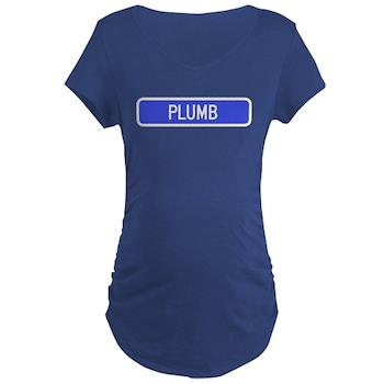 Plumb Avenue, Tribune (KS) Maternity Dark T-Shirt