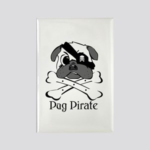 PUG PIRATE Rectangle Magnet