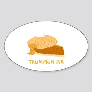 Funny Donald Trump Trumpkin Pie Sticker (Oval)