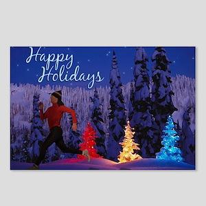 Runner's Holiday Scene (Female Runner) Postcards (