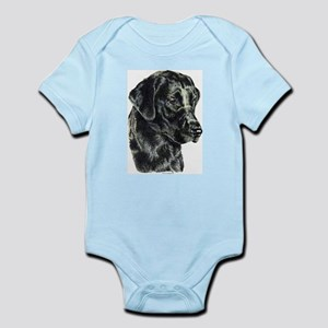 Black Lab Head Infant Creeper