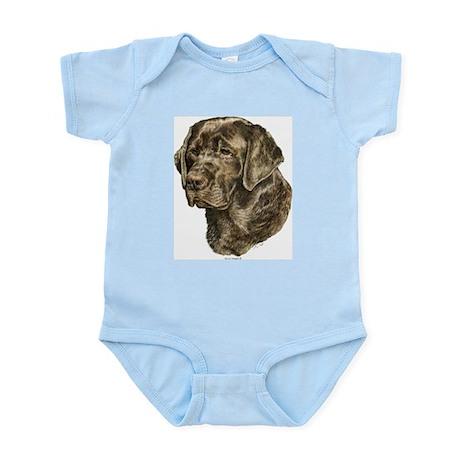Chocolate Lab Head Infant Creeper