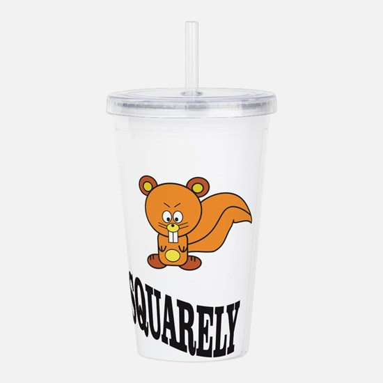 squarely squirrelly Acrylic Double-wall Tumbler