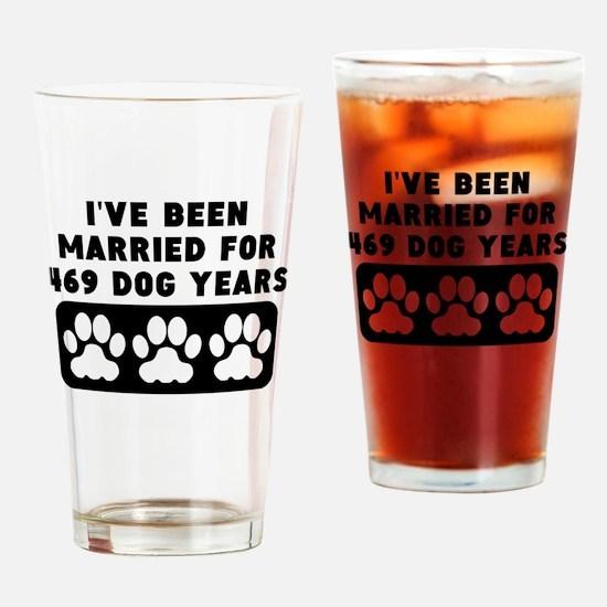 67th Anniversary Dog Years Drinking Glass
