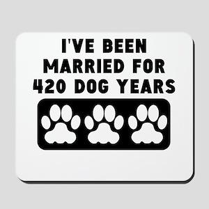 60th Anniversary Dog Years Mousepad