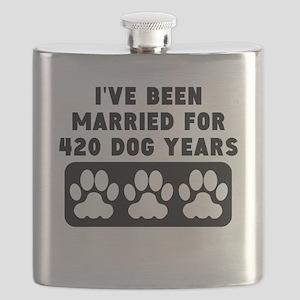 60th Anniversary Dog Years Flask