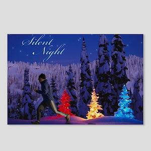 Silent Night - Christmas Scene (Male Runner) Postc