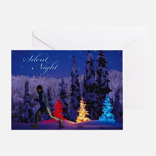 Silent Night - Christmas Scene (Male Runner) Greet