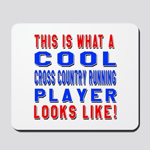 Cross Country Running Player Looks Like Mousepad