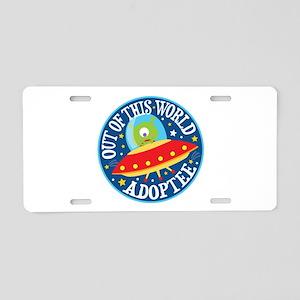 Adoptee Alien Aluminum License Plate
