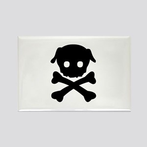 Pug Crossbones Rectangle Magnet