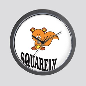 squarely squirrelly Wall Clock