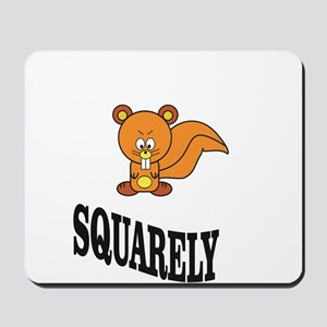 squarely squirrelly Mousepad