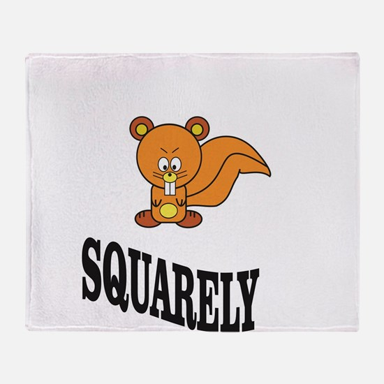 squarely squirrelly Throw Blanket
