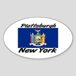 Plattsburgh New York Oval Sticker