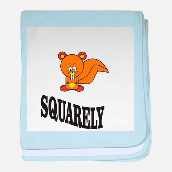 squarely squirrelly baby blanket