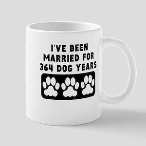 52nd Anniversary Dog Years Mugs