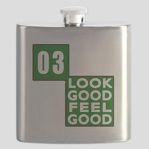 03 Look Good Feel Good Birthday Flask