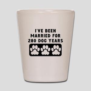 40th Anniversary Dog Years Shot Glass
