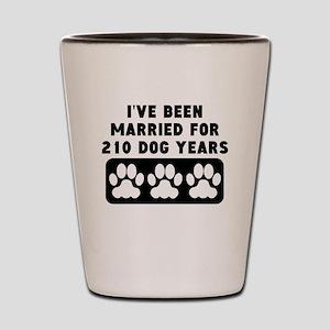 30th Anniversary Dog Years Shot Glass
