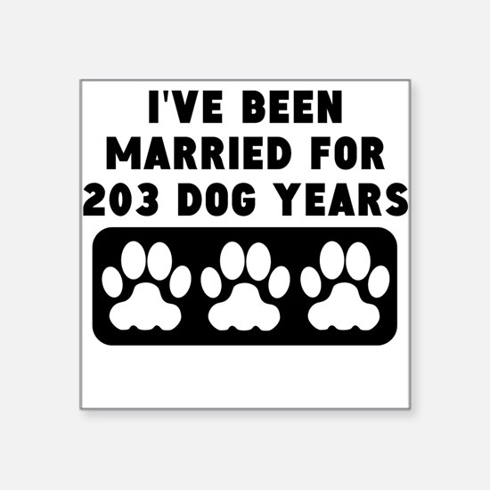 29th Anniversary Dog Years Sticker