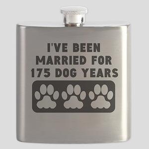 25th Anniversary Dog Years Flask