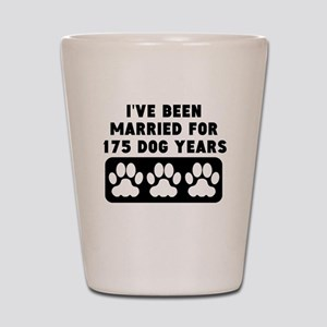 25th Anniversary Dog Years Shot Glass