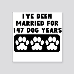 21st Anniversary Dog Years Sticker