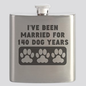 20th Anniversary Dog Years Flask