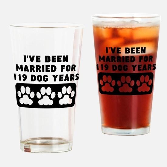 17th Anniversary Dog Years Drinking Glass