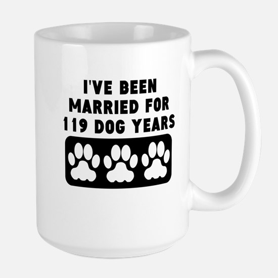 17th Anniversary Dog Years Mugs