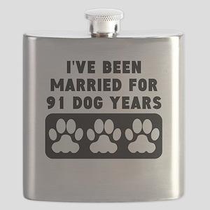 13th Anniversary Dog Years Flask