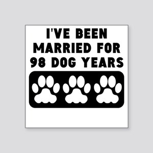14th Anniversary Dog Years Sticker