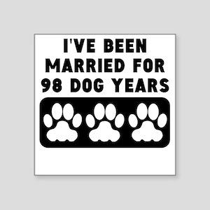14th Anniversary Dog Years Sticker
