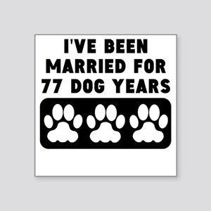 11th Anniversary Dog Years Sticker
