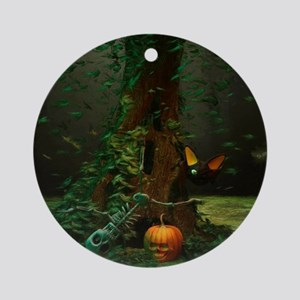 Halloween Night Round Ornament