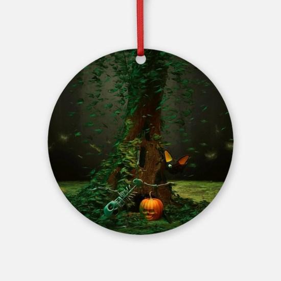 Halloween Night Round Ornament