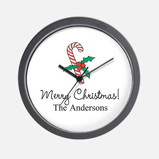 Personalized Christmas Kitchen Wall Clock