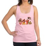 Cartoon Kitten Cats Christmas Racerback Tank Top
